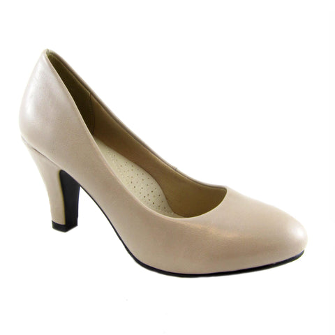 Jennifer taupe classig pump by Beacon Fashion and Fit