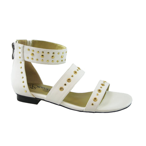Jillian white and gold sandal by Beacon