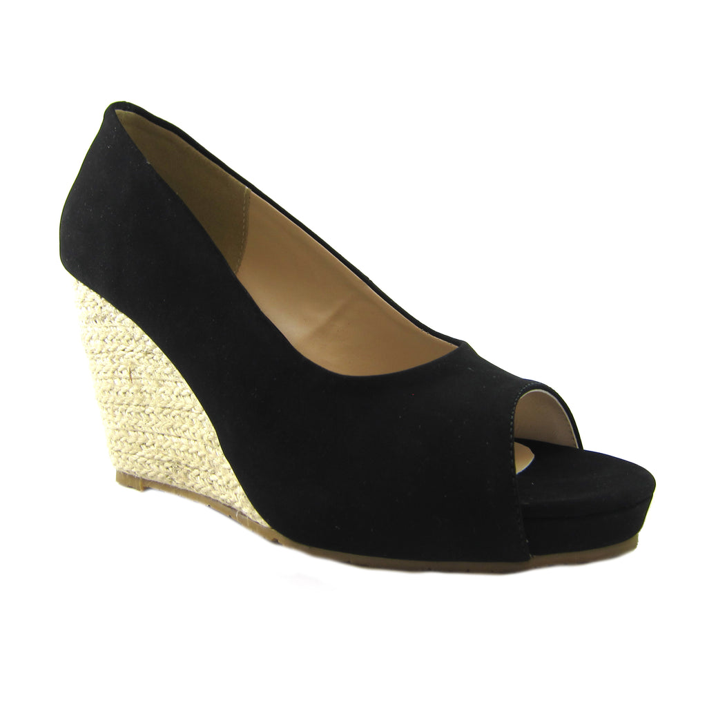 Joanne Black espadrille wedge Beacon Fashion and Fit