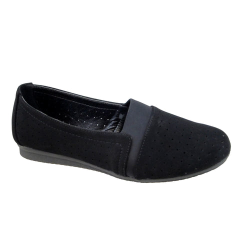 Lenore black stretch flat by Beacon