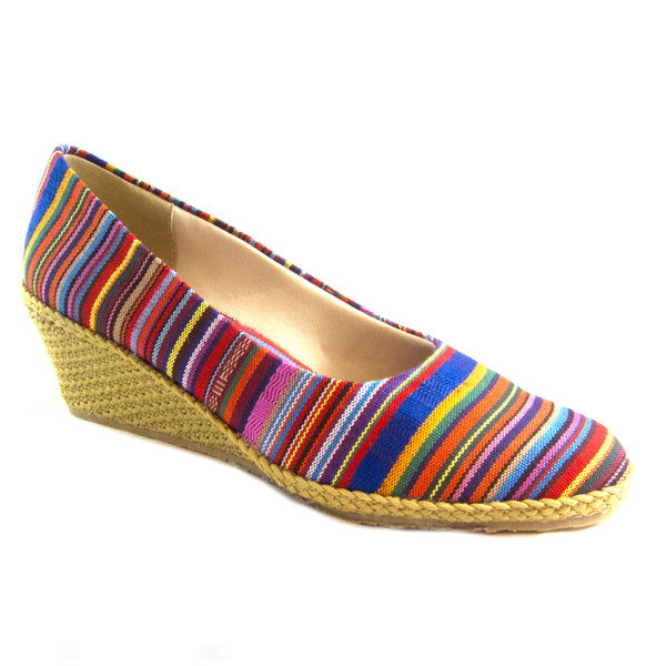 Newport Guatemalan classic espadrille wedge by Beacon
