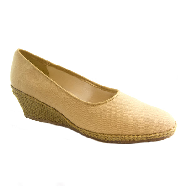 Newport sand classic espadrille wedge by Beacon