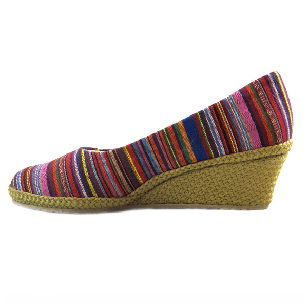 Newport side view classic espadrille wedge by Beacon