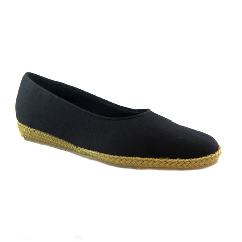 Phoenix black classic espadrille by Beacon