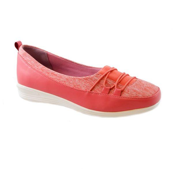 Polly Coral Bees by Beacon stretch slip on