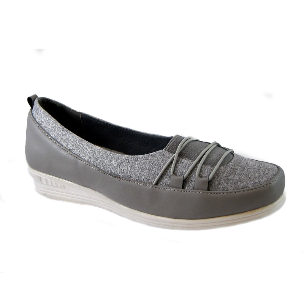 Polly Grey Bees by Beacon stretch slip on