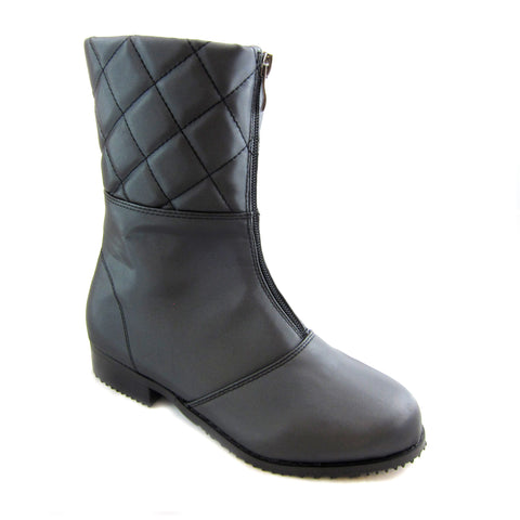 Quebec black rain weather boot by Beacon Sensible Soles