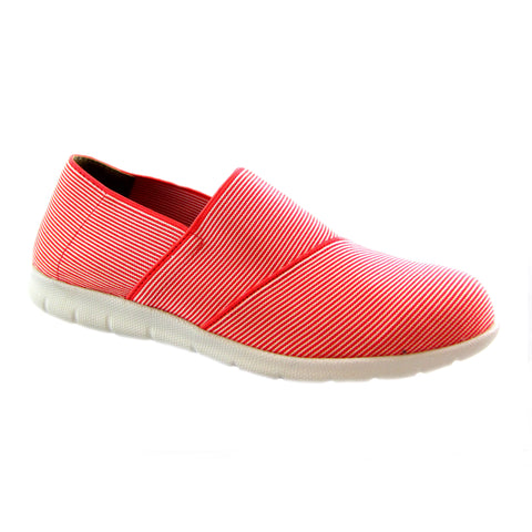 Sandy Raspberry all over strecth strip comfort casual slip on Bees by Beacon
