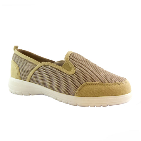 Dandy khaki mesh casual slip on by Bee's by Beacon