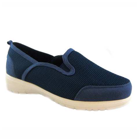 Dandy navy mesh casual slip on by Bee's by Beacon