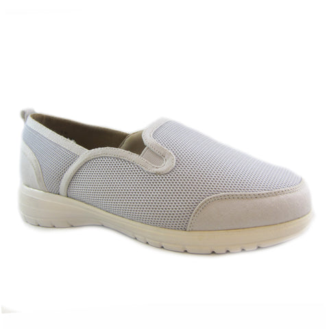 Dandy white mesh casual slip on by Bee's by Beacon