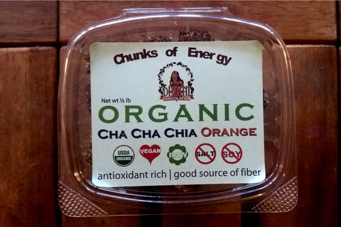 Chia Orange Energy Chunks Made With Dried Fruit, Seeds, and Nuts