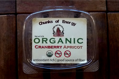 Cranberry Apricot Energy Chunks Made With Dried Fruit, Seeds, and Nuts