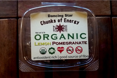 Lemon Pomegranate Energy Chunks Made With Dried Fruit, Seeds, and Nuts