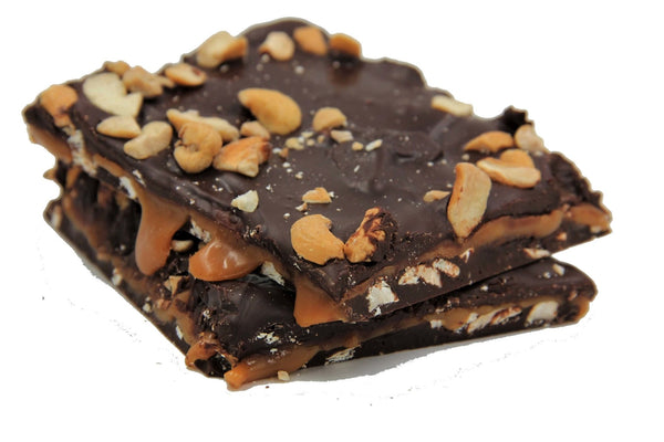Bear Claw Bark Handmade With Caramel & Belgian Dark or Milk Chocolate