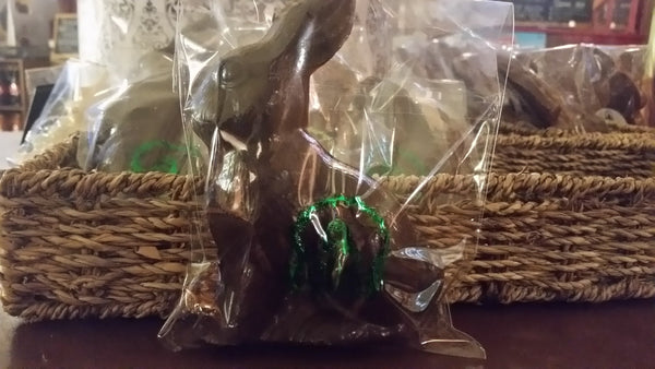 Bunny Silhouette in Belgian Dark, Milk or White Chocolate - Divani Chocolatier in Foxburg, Pennsylvania