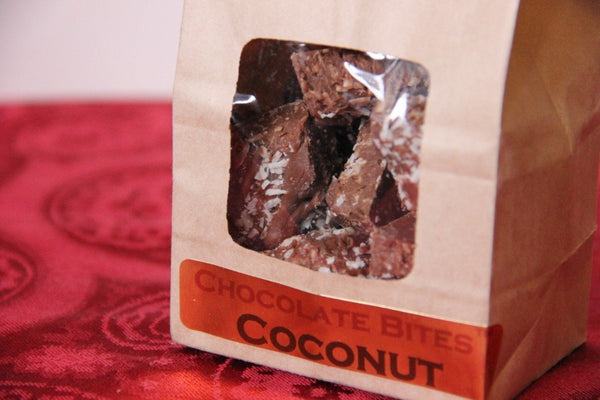Coconut Bliss Bites™ Handmade With Belgian Dark or Milk Chocolate