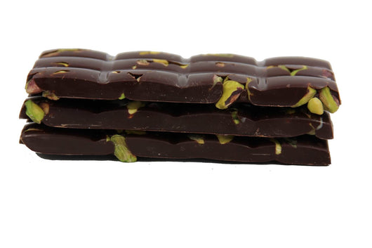 DIVANI RAW PISTACHIO BAR HANDMADE WITH BELGIAN DARK OR MILK CHOCOLATE - Divani Chocolatier in Foxburg, Pennsylvania