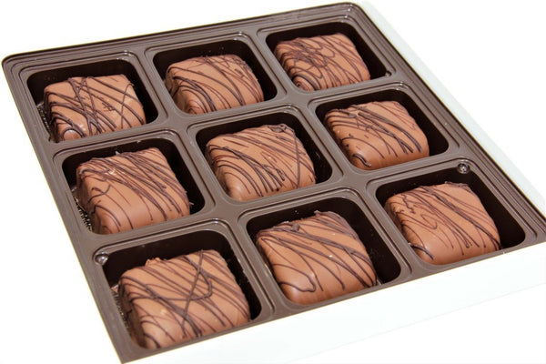Figgy Bars Hand-dipped in Belgian Dark, Milk, or White Chocolate - Divani Chocolatier in Foxburg, Pennsylvania