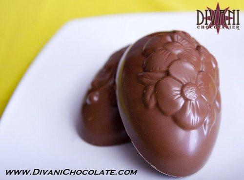 Nutty Chocolate Creme Egg in Belgian Dark, Milk or White Chocolate