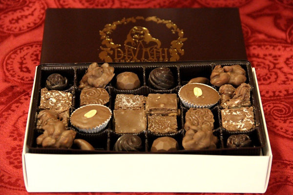Treasure Box™ Assortment, 48pc Double-Layered Box with Belgian Dark and Milk Chocolate Pieces