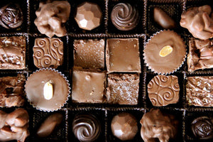 Treasure Box™ Assortment, 48pc Double-Layered Box with Belgian Dark and Milk Chocolate Pieces - Divani Chocolatier in Foxburg, Pennsylvania