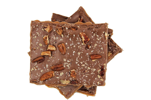 Turtle Bark Handmade With Caramel and Belgian Dark or Milk Chocolate - Divani Chocolatier in Foxburg, Pennsylvania