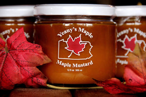 YEANY'S PREMIUM PA MAPLE MUSTARD IN GLASS JAR - Divani Chocolatier in Foxburg, Pennsylvania
