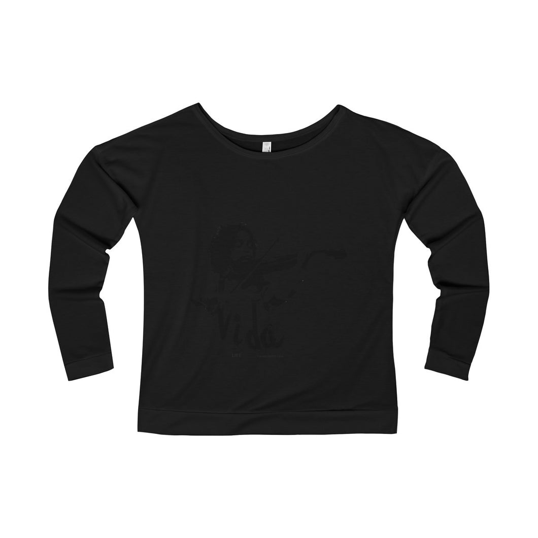 Caesar & Maria-Anita collection for a beautiful woman like you: Women's Terry Long Sleeve Scoopneck T-Shirt
