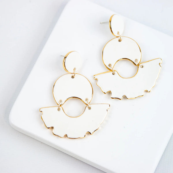White Swan Chandelier Earrings by Susan Gordon