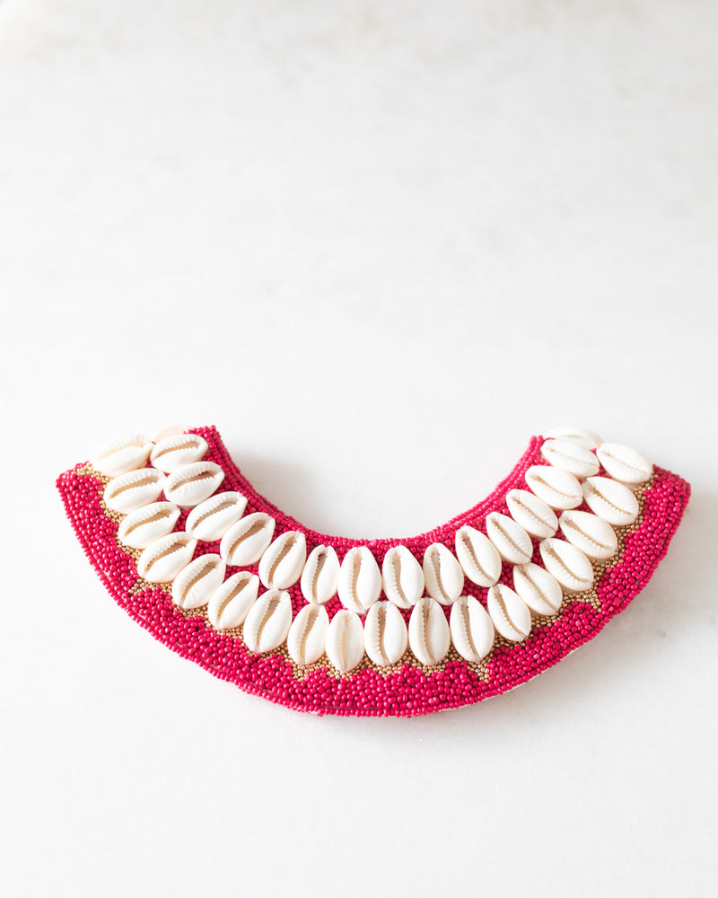Cowrie Collar - Pink