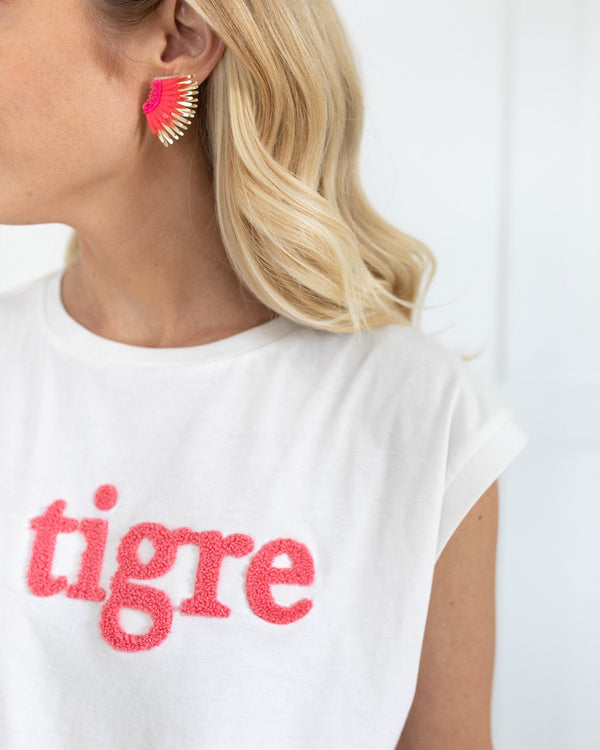 Mignonne Gavigan Hot Pink Mini Madeline Earrings