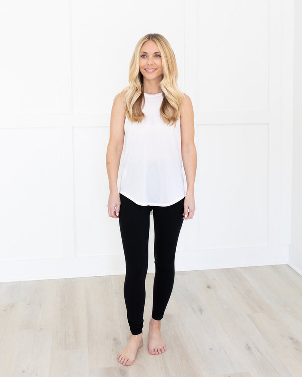 Spanx White Go Lightly Active Tank