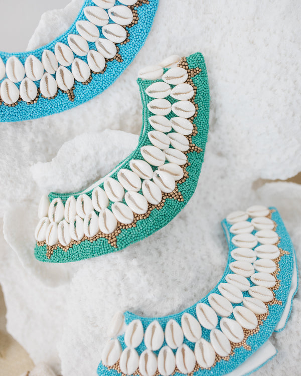 Turquoise Cowrie Collar