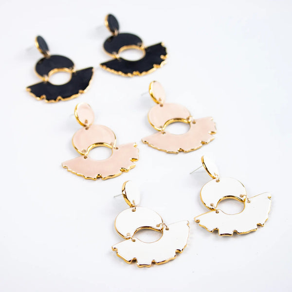 Blush Swan Chandelier Earrings by Susan Gordon