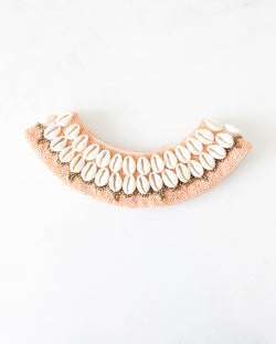 Blush Pink/Peach Cowrie Collar