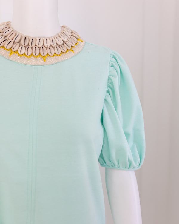 Cowrie Collar - Neutral with yellow