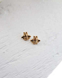 Susan Gordon Gold Bee Earrings
