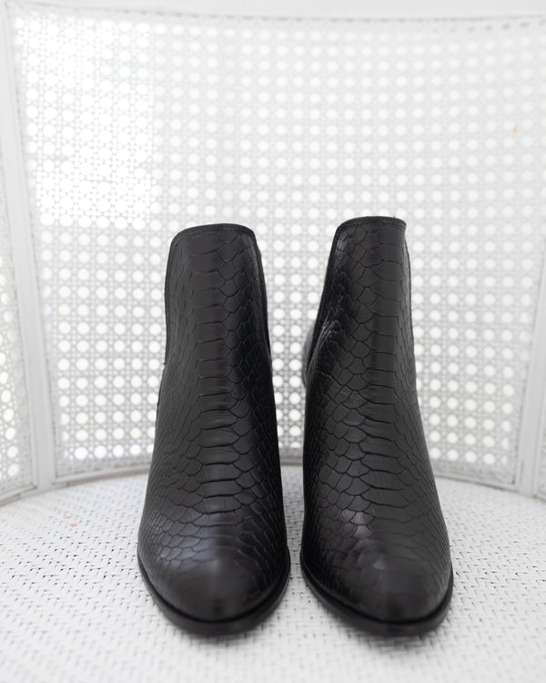 Black Gattinara Open Ankle Block Booties Booties