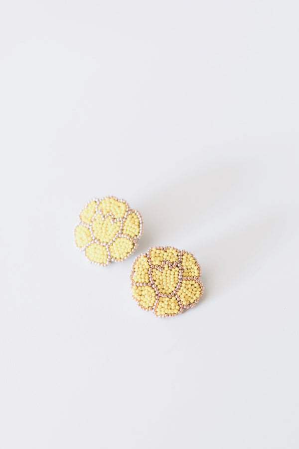 Pale Yellow Poppy Earrings