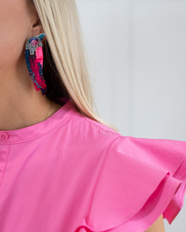 Mignonne Gavigan Hot Pink Bird Earrings