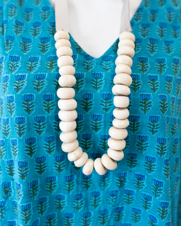 Large Beaded Bone Necklace