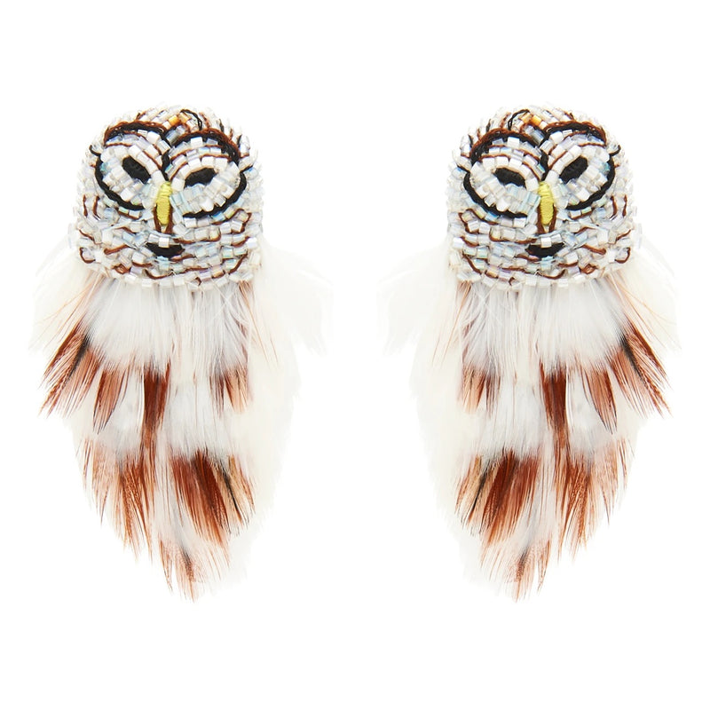 Mignonne Gavigan Mini White Owl Earrings