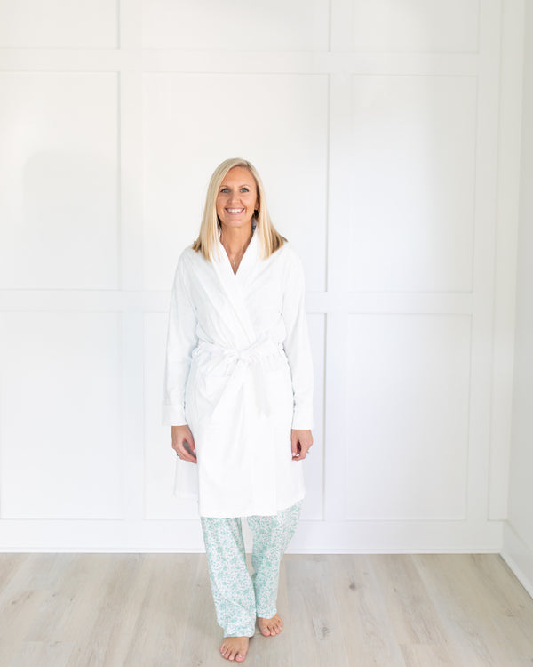 Women's Luxe Pima Cotton White Robe