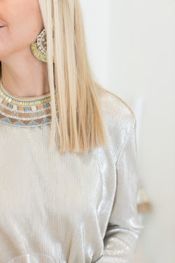 Beaded Silver and Gold Collar