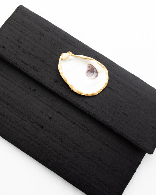 Silk Clutch with Oyster