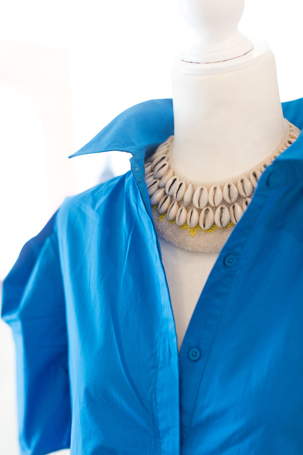 Cowrie Collar - Yellow