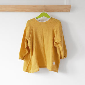 Yellow Apron, organic cotton linen