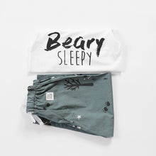 Load image into Gallery viewer, Petrol blue Woodland  Sleepy Pyjama Set, unisex