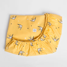 Load image into Gallery viewer, Yellow Swallow Fitted Sheet
